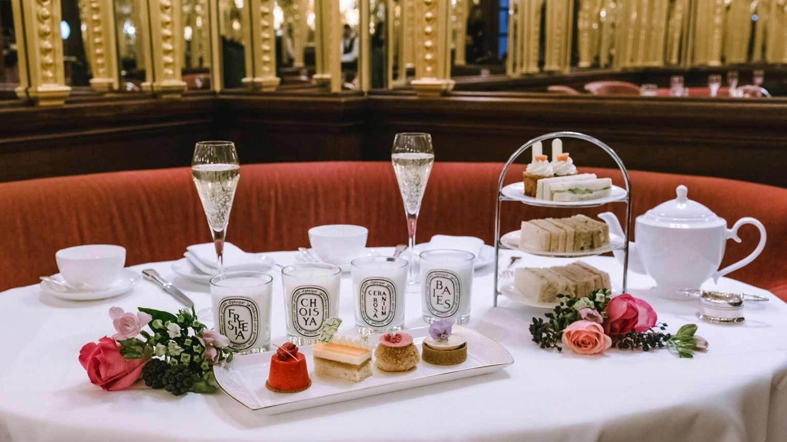diptyque afternoon tea hotel cafe royal london