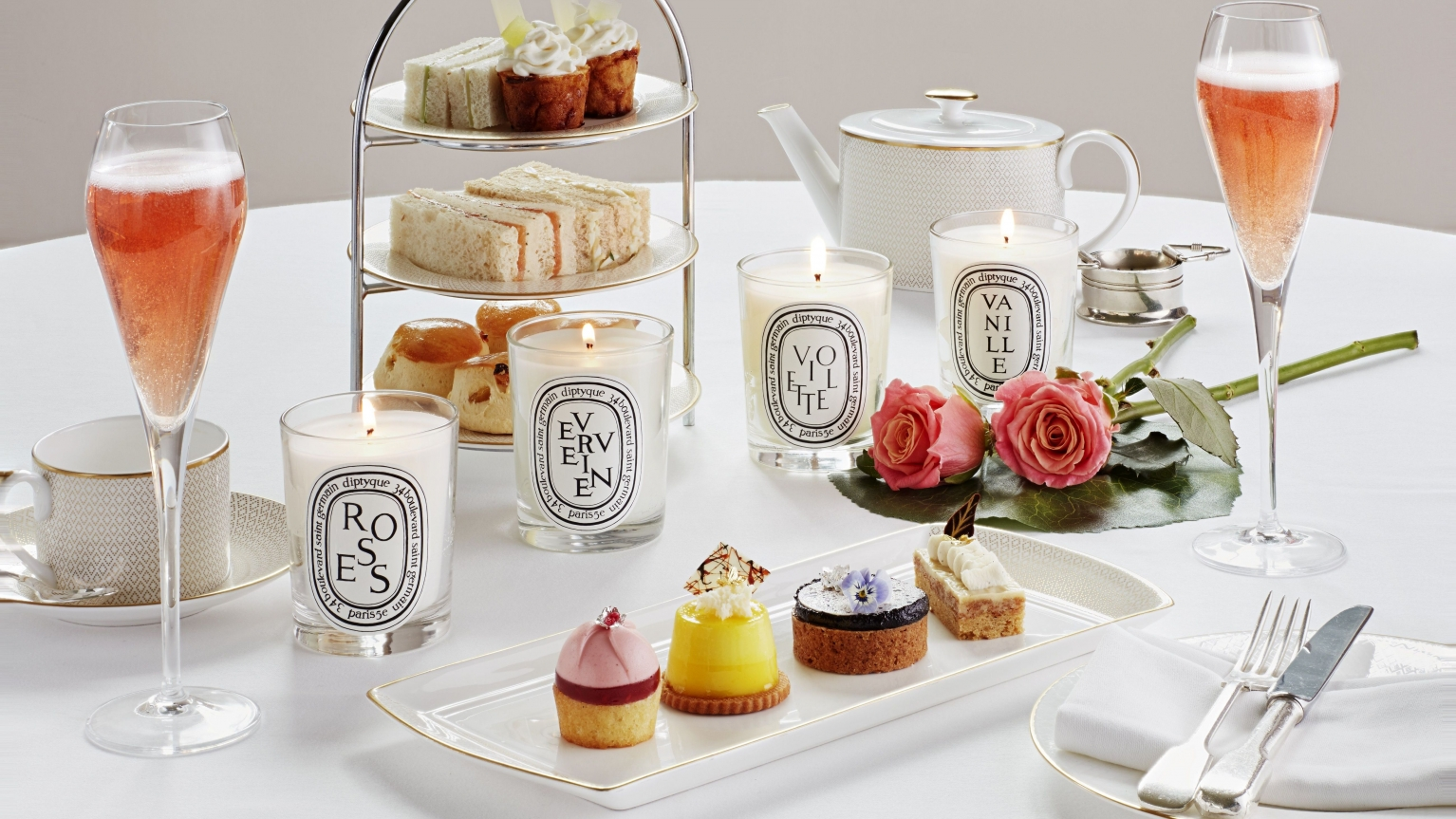diptyque afternoon tea at hotel cafe royal london