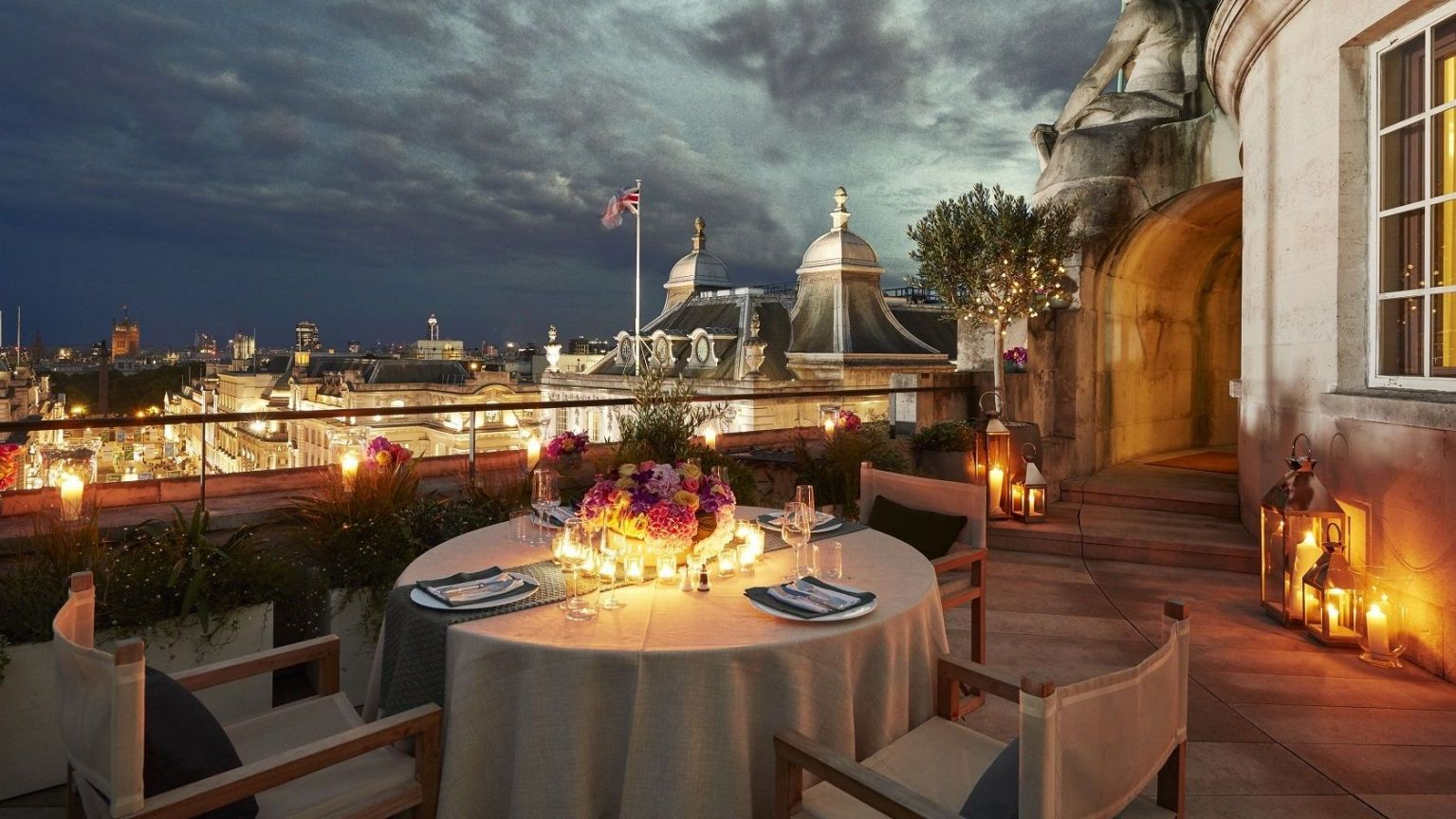 Dome penthouse hotel cafe royal london terrace
