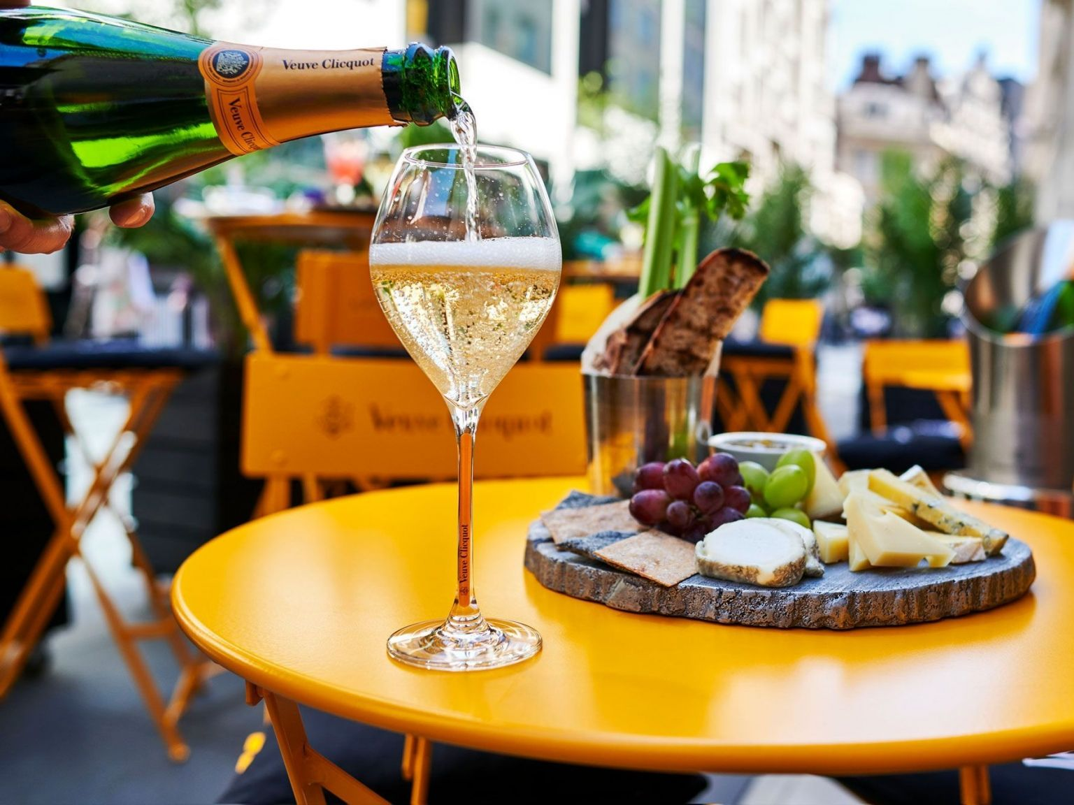 green bar summer terrace veuve clicquot champagne hotel cafe royal soho mayfair london