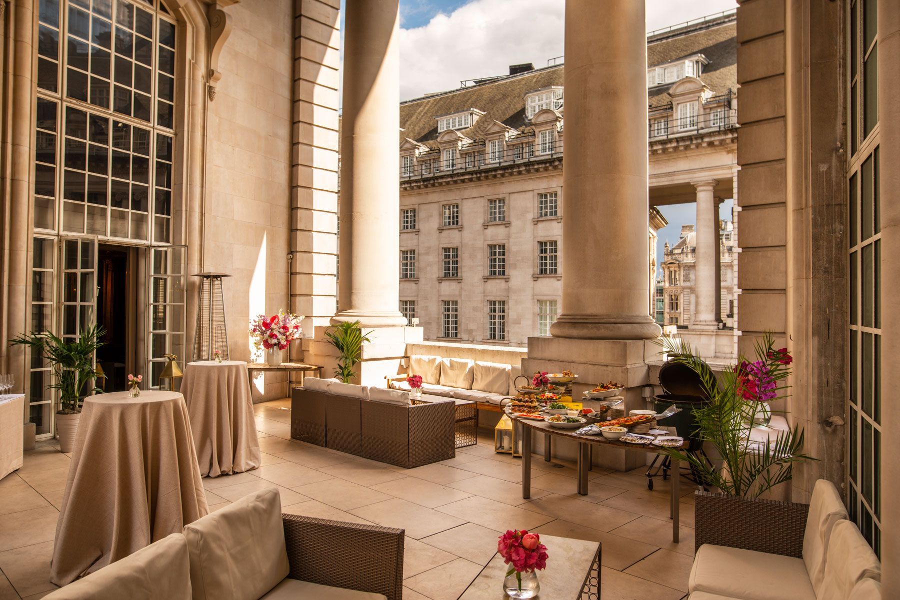 pompadour summer terrace hotel cafe royal london regent street events