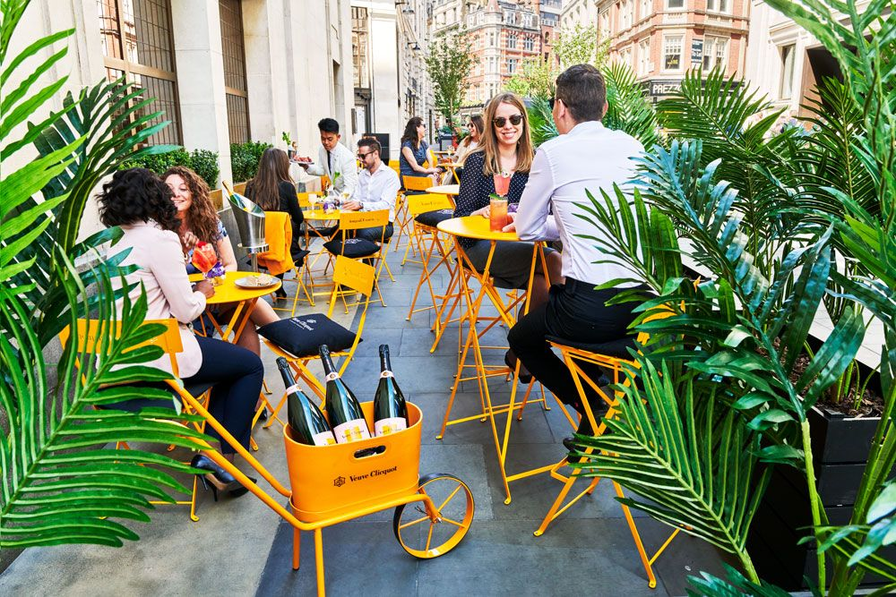 Green Bar Summer Terrace with Veuve Clicquot Hotel Cafe Royal London